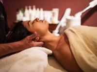 Woman getting a relaxing massage at the Pagosah Spa